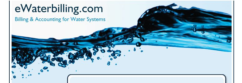 eWaterbilling.com - Billing & Accounting for Water Systems